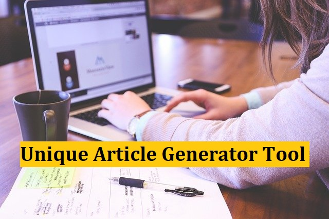Unique Article Generator Tool