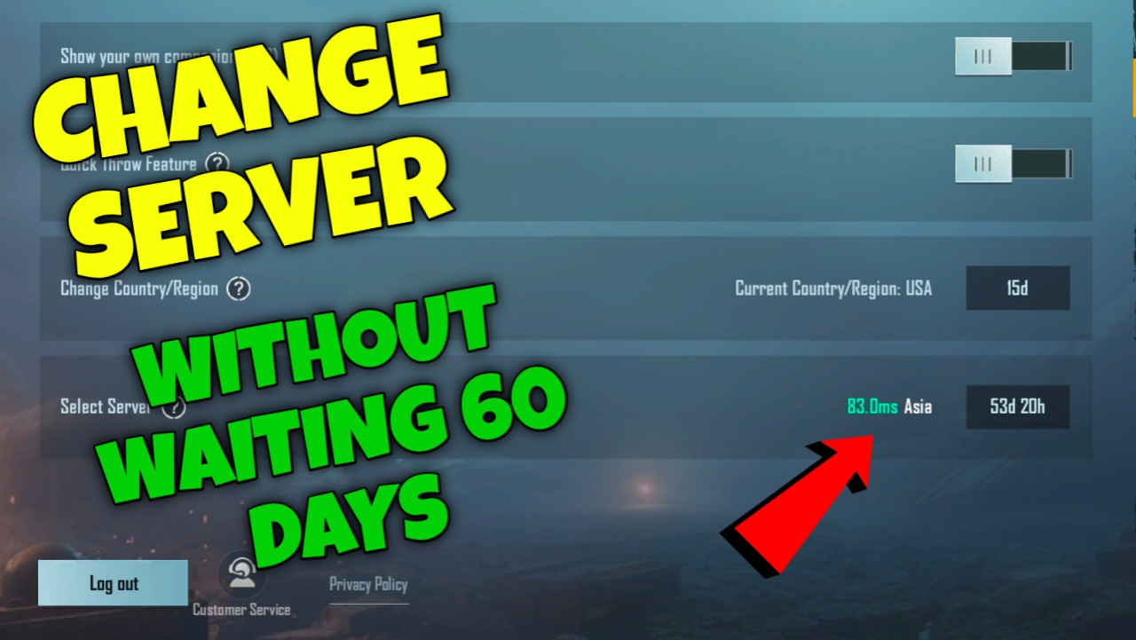 How To Change Server In Pubg Without Waiting 60 Days