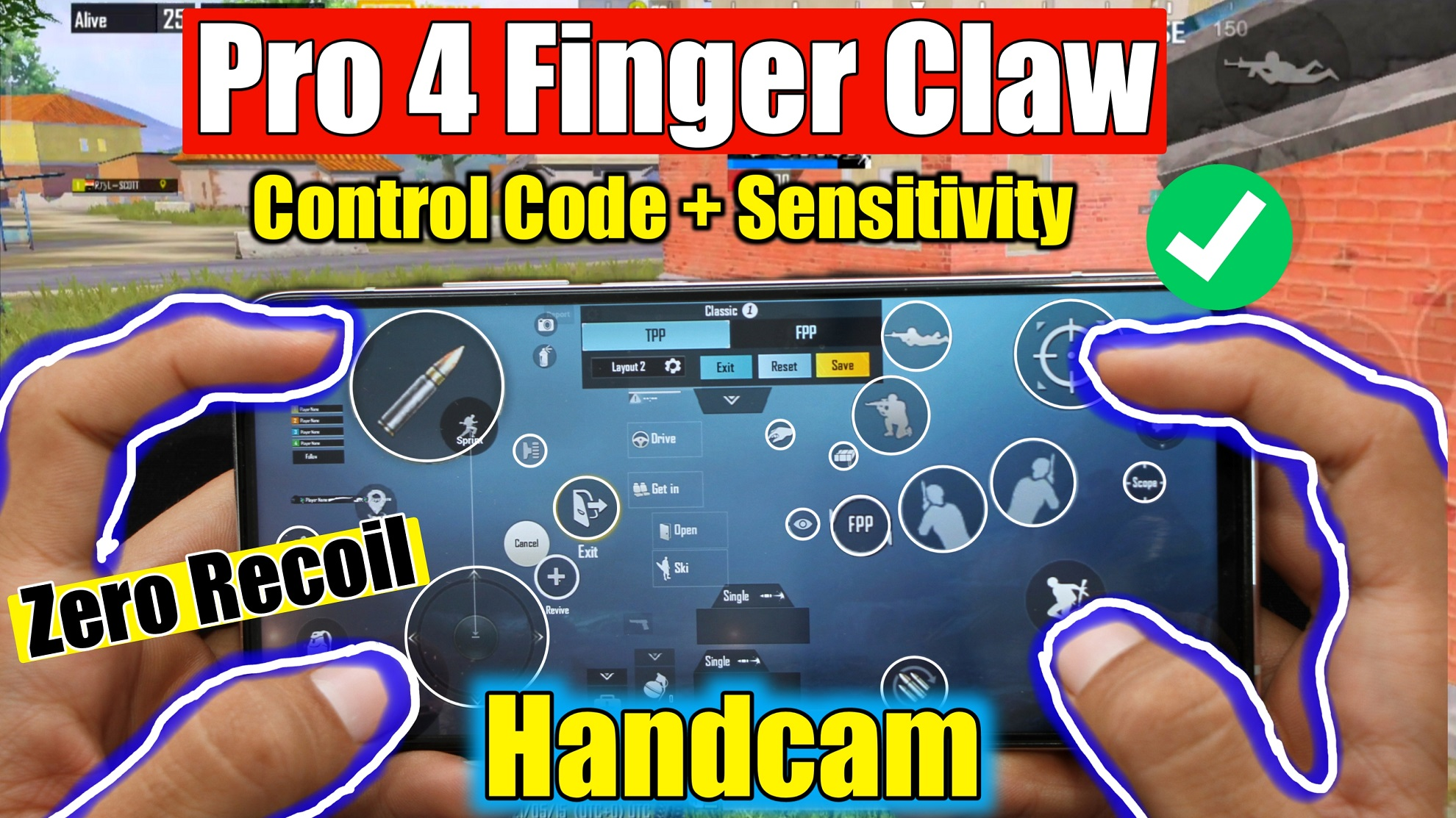 Best 4 finger claw PUBG Mobile with gyroscope
